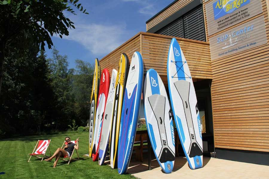 SUP Shop Allgäu mit Fanatic Boards, Naish Boards, Starboard Boards und Mistral SUP
