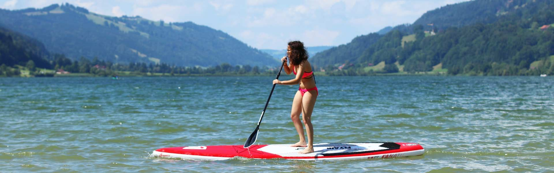 Spaß beim Stand Up Paddling